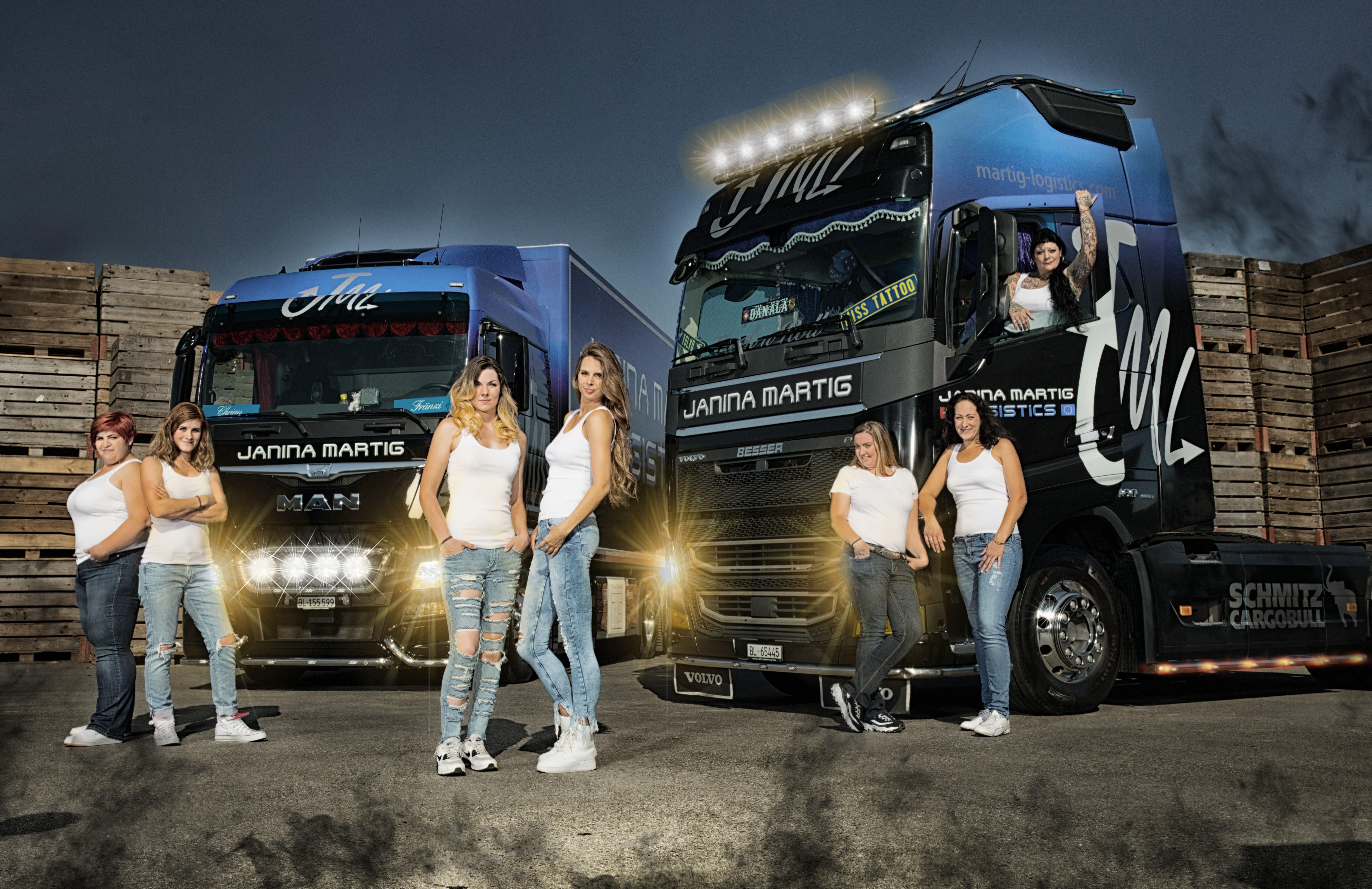 Fahrerinnen-Team von Janina Martig Logistics